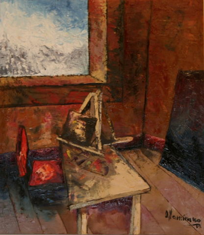 Interior Scene - 'Workshop' - 2009; 45x54cm